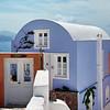 Luxury hotel in Oia overlooking ocean