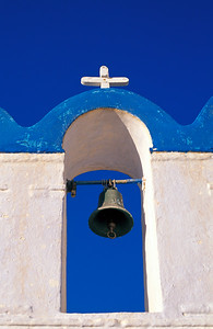 Blue and White Belfry, Santorini