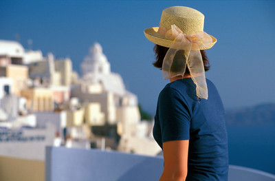 Woman in Hat, Santorini