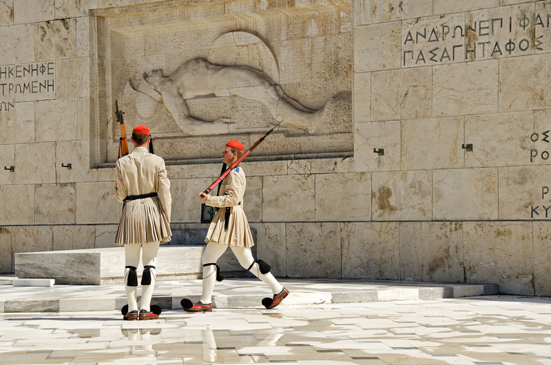 Changing of the guard, Athens, Greece