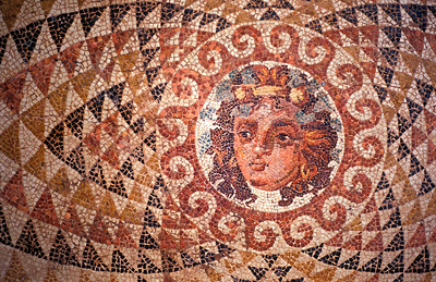 Floor Mosaic with Dionysos, Corinth Museum