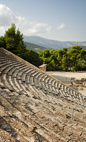 The theater at Epidavros, Greece