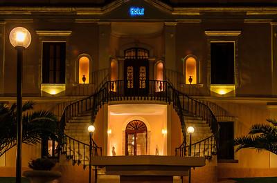 Hotel Halepa at night