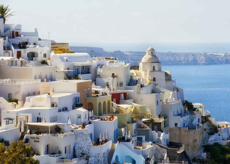 Town of Fira, island of Santorini, Greece