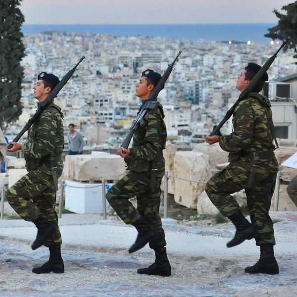 Greek Soldiers on the Acropolis. 2017.