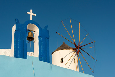 Belfry and Windmill, Oia, Santorini