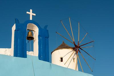 Belfry and Windmill, Oia, Santorini
