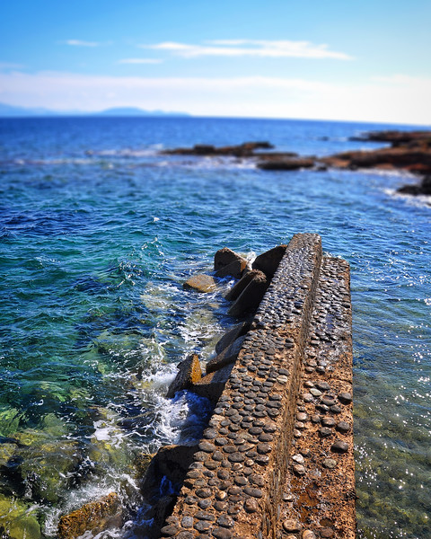 A Small Breakwater Protects a Beach in Mati. 2017.