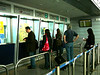 Buying Metro (subway and ground level train) Tickets in the Athens Airport.