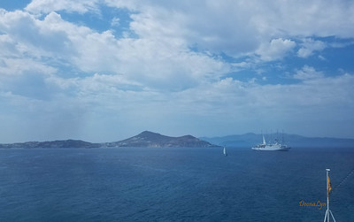First Santorini Island View