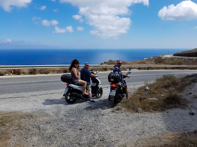 Morning Ride in Santorini, Greece