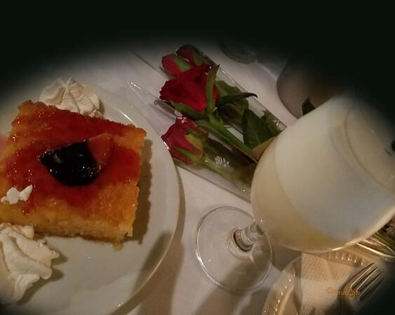 Orange Pie at Ydria Cafe, Greece