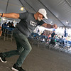Perry Michaelides does a Greek dance called the Zembekiko at the Holy Trinity Greek Orthodox Churches Greek Festival on Saturday Sept. 18, 2021. SENTINEL & ENTERPRISE/JOHN LOVE