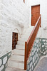 A door and stairway on the Greek island of Patmos.