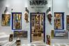 The Iaspis Art Gallery in Hora on the Greek Island of Mykonos, Greece.