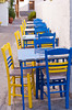 Outdoor restaurant in Skala on the Greek island of Patmos.