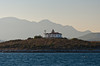A rustic lightstation near the island of Samos, Greece.