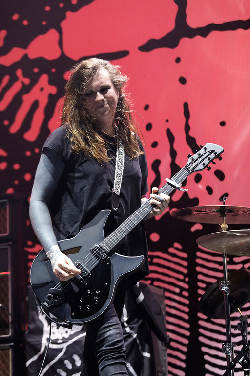 . Against Me! live at Joe Louis Arena on 3-27-17.  Photo credit: Ken Settle