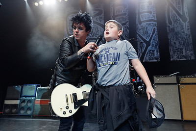 Green Day live at Fillmore Detroit on 10-24-16.  Photo credit: Ken Settle