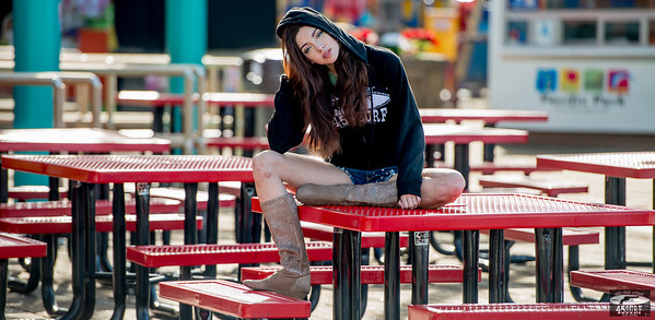 Green Eyed Goddess! Pretty Brunette in Santa Monica! Nikon D800 Photos 70-200mm VR2 F/2.8 Nikkor Lens