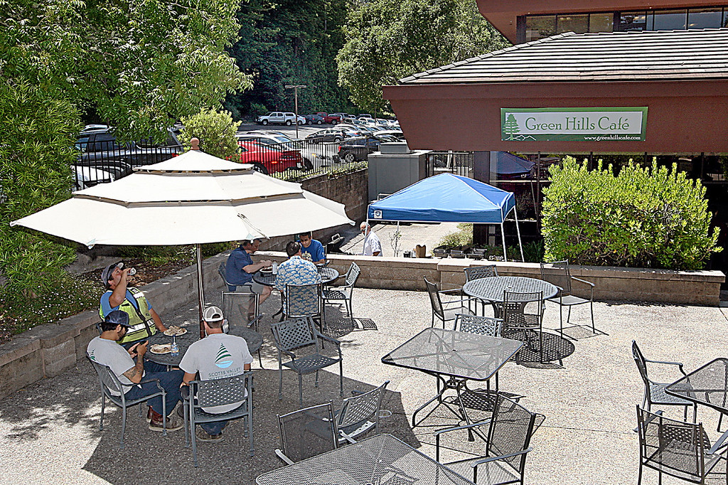 . Green Hills Cafe offers dining inside, or outside in the courtyard.  (Dan Coyro -- Santa Cruz Sentinel)