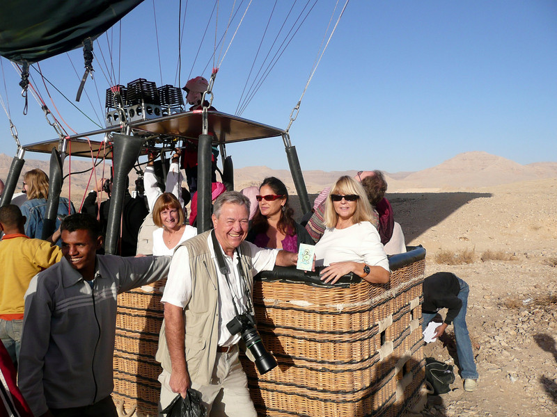 Green Man Traveller, Luxor Balloon ride