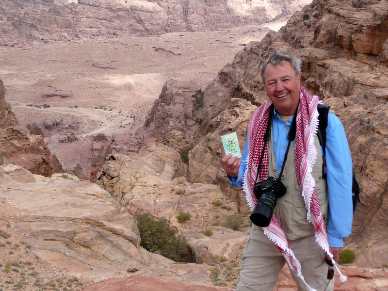 Green Man Traveller, Petra, Jordan