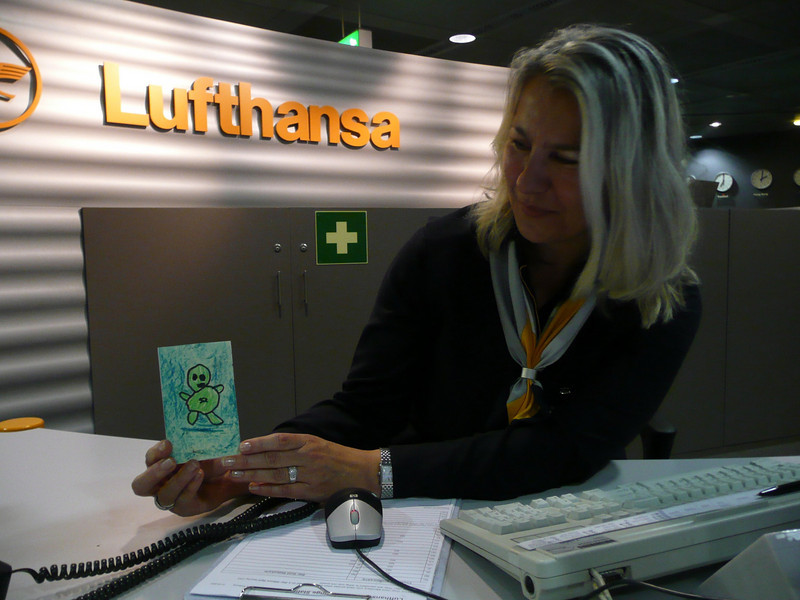 Green Man Traveller, Frankfurt, Lufthansa Lounge