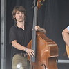 GREG SUKIENNIK -- MANCHESTER JOURNAL<br /> Double bass player Paul Kowert of Hawktail performs at the Green Mountain Bluegrass & Roots Festival on Saturday.
