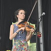 GREG SUKIENNIK -- MANCHESTER JOURNAL<br /> Fiddle player Brittany Haas of Hawktail performs at the Green Mountain Bluegrass & Roots Festival on Saturday.