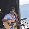 GREG SUKIENNIK -- MANCHESTER JOURNAL<br /> Guitarist Jordan Tice performers as a guest with Hawktail at the Green Mountain Bluegrass & Roots Festival on Saturday.