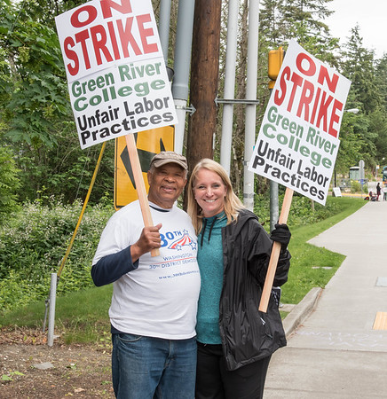 Green River Community College on Strike  May 25, 2016