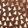 Gold Christmas tree background pattern