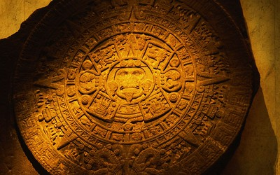 Aztec Calendar Stone From Mexico City, Mexico