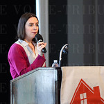 The emcee for the event was Erika Peterson.