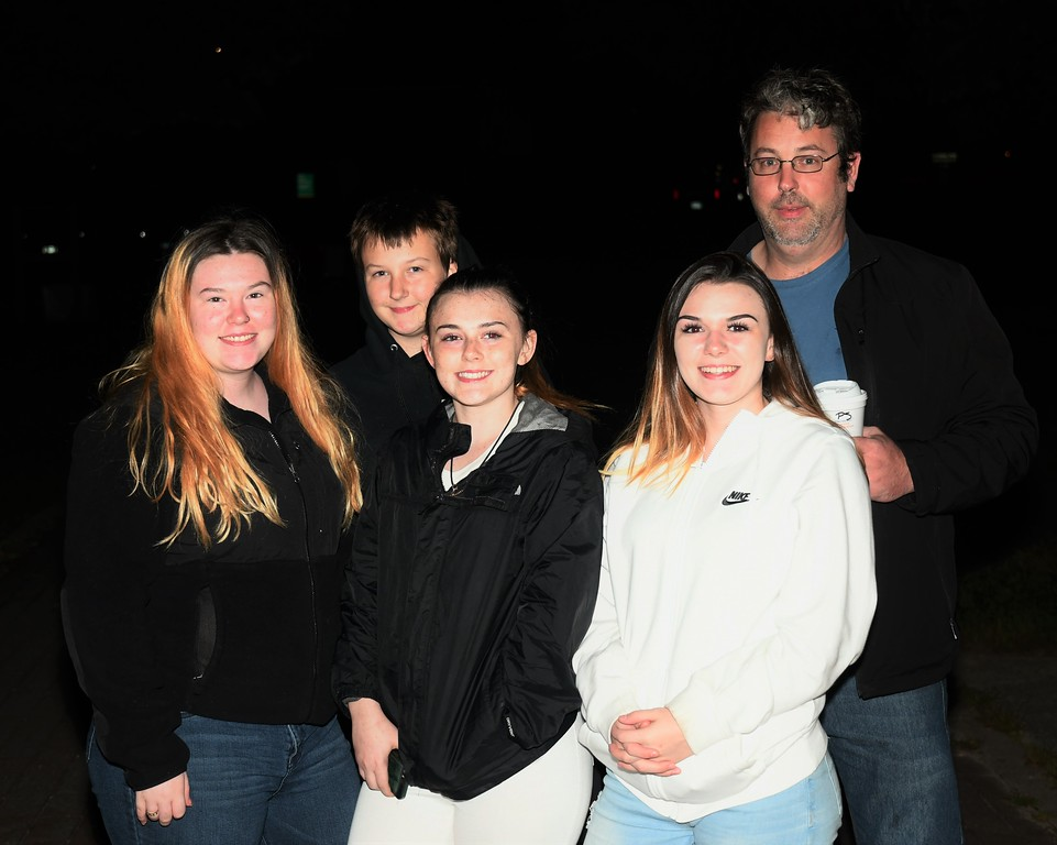 . Sammi Grant, Hailie Hoffart, Kendra Grant, Felicia Grant and Matthew Hoffart came to the Green Park Vigil for the little girl who lost her life on Thursday / Jim Fay