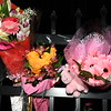 Flowers and a pink Pony adorn the fence outside the Willow Loft Apartments in Fitchburg.<br /> Sentinel & Enterprise / Jim Fay