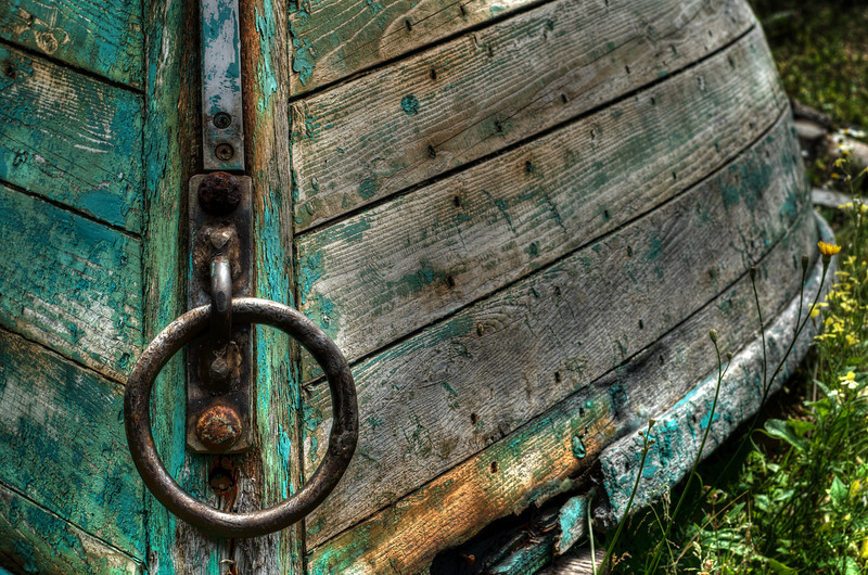Green boat - Lunenburg waterfront