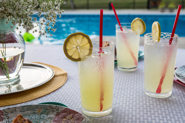 Lemonade and a cool pool perfect for refreshing