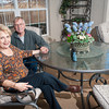 Bill and Jean Goad sit in the sunroom that overlooks their large backyard and Civitan Park.