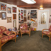 The travel room contains memorabilia from Ken and Linda Johnson's trips.