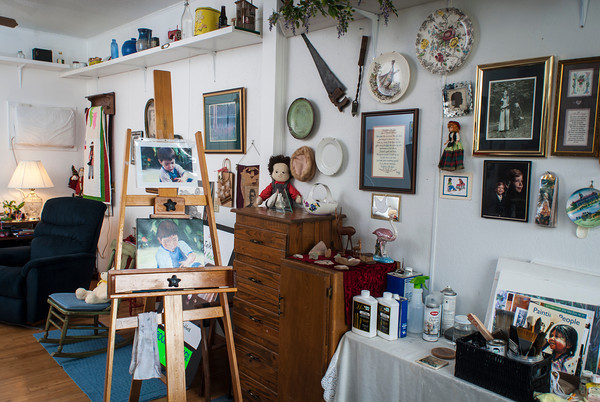 Lottie Hufford has turned one room of their home into an art studio for her painting and photography.