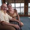 Stan and Lottie Hufford have made a home for themselves overlooking the Arkansas River in Webbers Falls.