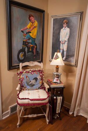 The late Roger Davis painted a number of portraits of his son, Callaway, over the years.