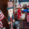 The Uncle Sam room is a patriotic paradise, with a seemingly endless variety of items celebrating the red, white and blue.
