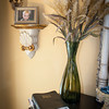 The Bible, a vase and a family photo make a nice vignette in the master suite.