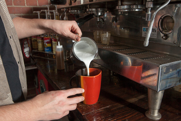 Freshly brewed coffee and steamed milk are key ingredients for maximum quality.