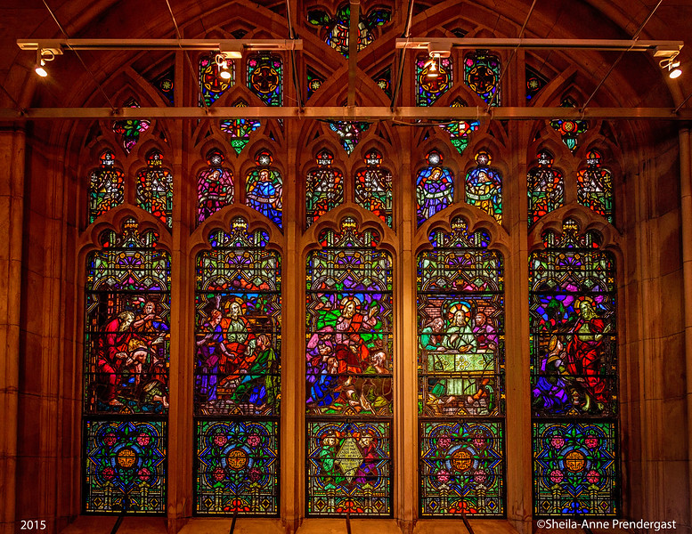 I love the stained glass windows at Green-Wood Cemetery.