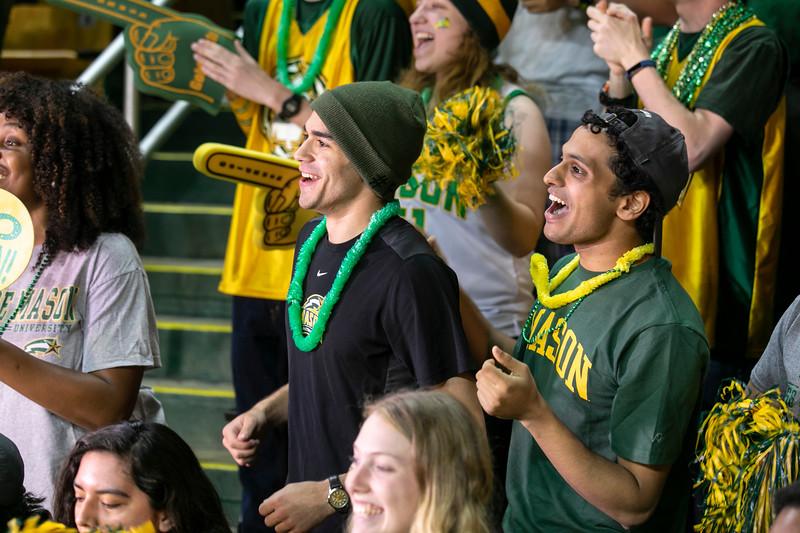 George Mason Fans.  Photo by:  Ron Aira/Creative Services/George Mason University