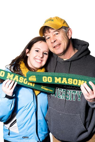Mason Fanatics at the 2013 Mason Homecoming. Photo by Alexis Glenn/Creative Services/George Mason University
